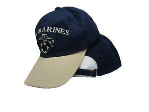 (JumpingLight USMC Marine Marines Navy Blue and Stone Khaki EGA Ball Cap Hat Cover for Home, Official Party, All Weather Indoors Outdoors)