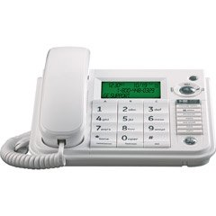 GE 29582GE1 Corded Desktop Phone with CID/Speaker/ITAD (White)