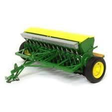 John Deere Model FB Grain Drill with Yellow Hopper Lids 1/16 Diecast Model by Speccast - John Deere Drill Grain