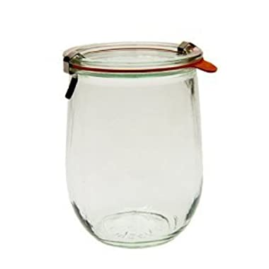 Weck 745 Tulip Jar - 1 Liter, Set of 6