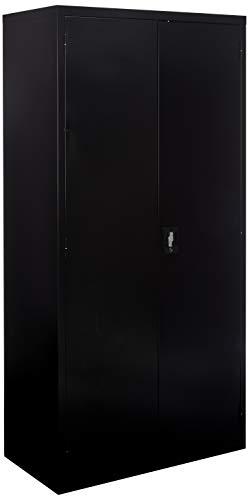 Lorell LLR41305 Fortress Series Storage Cabinets, Black