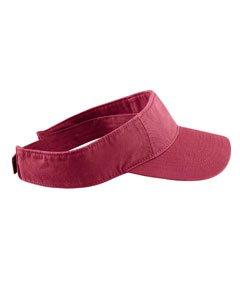 Authentic Pigment Direct Dyed Cotton Twill Visor Hat Cap - - Visor Twill