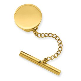Jewelryweb gold-flashed round polished tie tack