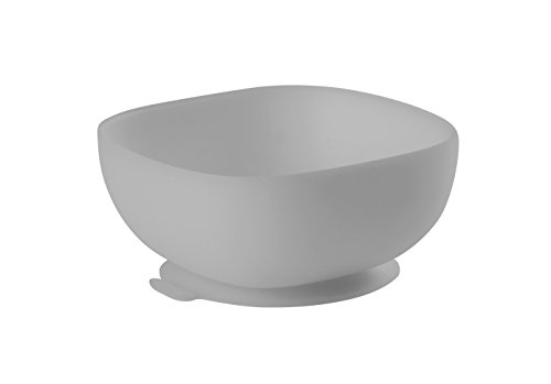 (BEABA Silicone Bowl - Soft, Unbreakable, Non-Slip Suction Bottom - Easy to Clean - Dishwasher and Microwave Safe - Great for Babies and Toddlers (Cloud))