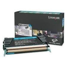 (Lexmark Brand Name Cyan Hi-Yield Return Program Toner CS736 10K YLD 24B5804)
