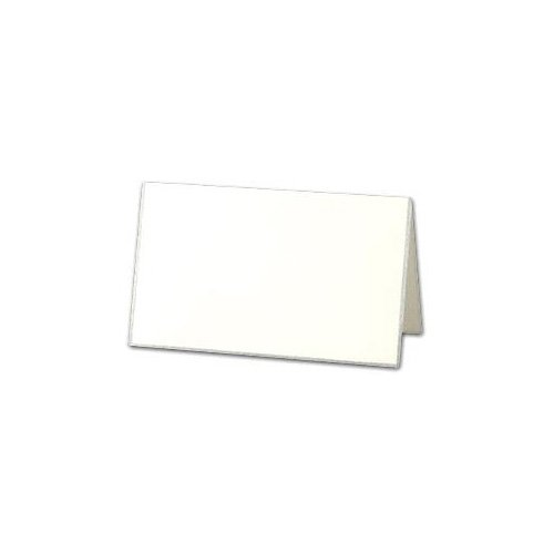 Pearl Border Place Card - Crane & Co. Silver Bordered Pearl White Place Cards (DF924S)