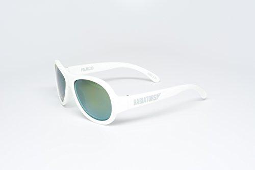 Babiators Little Boys' Polarized Junior Babiators-Wicked White - Wicked White Polarized - 0-3 - Sunglasses Wicked