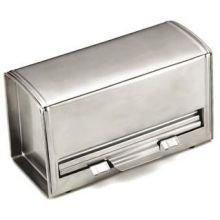 Alegacy 18/8 Stainless Steel Jumbo Straw Dispenser, 4 1/2 x 10 1/4 x 5 3/4 inch -- 1 each.