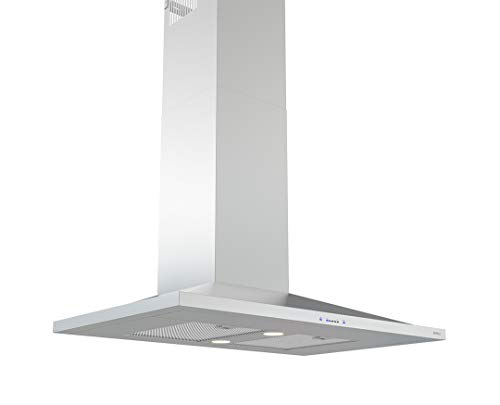 Zephyr ZAN-M90CS 600 CFM 36 Inch Wide Wall Mount Range Hood with ICON Touch Controls, LED Lighting and Airflow Control Technology from the Essentials Europa Collection