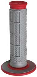 Renthal Grip (Renthal G163 Red/Gray Diamond/Waffle Soft/Firm Compound Tapered Motocross Grip)