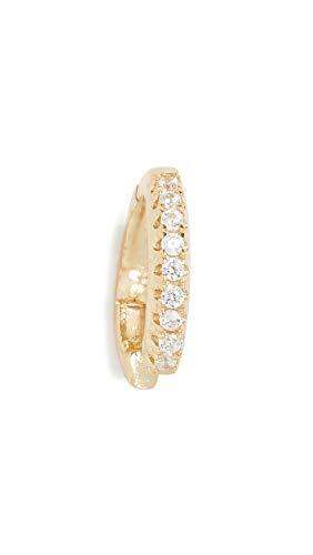 - Shashi Women's Pave Hinge Single Ear Cuff, Yellow Gold, One Size