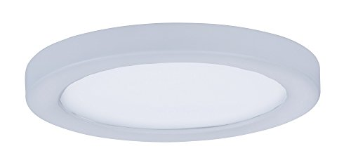 Maxim 57710WTWT Wafer LED Flush Mount Outdoor Flush Mount, White Finish, White Glass, PCB LED Bulb , 18W Max., Wet Safety Rating, 2700K Color Temp, Shade Material, 1355 Rated - Shades Wafers
