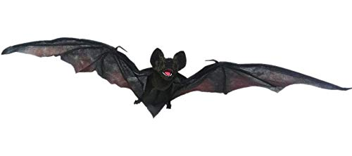Global Trend Innovations Hanging Vampire Bat, Hanging Fabric and Wire Decoration Expands to 48 Inches Wide by 15 - Vampire Hanging Bat