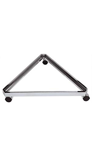 """Chrome Triangle Grid Base with Casters (Use with existing 3"""" on Center Wire Grid ()"""