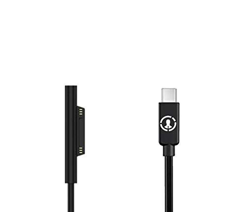 J-Go Tech Surface Connect to USB C Charging Cable | 15V | Allows PD Charging for Maximum Portability