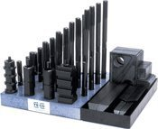 Super Clamp Kits (Te-Co Series 803) 20 x 2.5mm Stud x 22mm Tbl. T-Slot / 38mm Thick Step Blk. by Te-Co