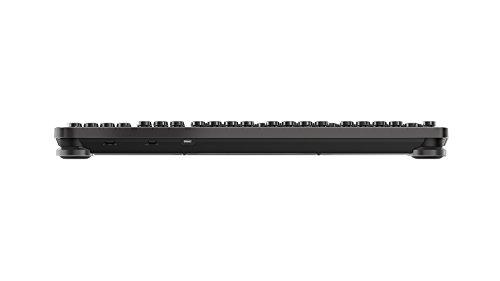 Azio Retro Classic Bluetooth Elwood - Luxury Vintage Backlit Mechanical Keyboard, Brown/Grey (MK-RETRO-W-BT-01-US) by Azio (Image #3)