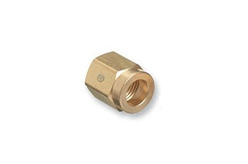 Western Enterprises CO-2 Regulator Inlet Nuts, Carbon Dioxide (CO2), Brass, (Brass Regulator Nut)