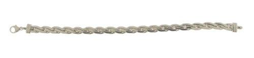 Diamantly - Bracelet or Gris Palmier Frappe 5.8mm - or Gris 375/1000 (9 Carats) - Femme - Fille