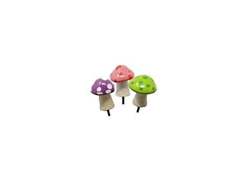 JJ Potts, LLC Pico Shroomyz Mushrooms, 3 Assorted Piece Set for Miniature Garden, Fairy Garden ()