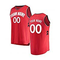 Qimeijer Custom Children's Basketball Jersey Personalized Your Own/Team Logos Name Numbers Jerseys (Raptors-red,Youth S)]()