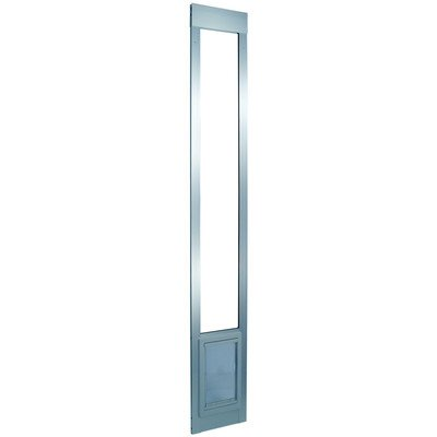 Ideal Pet Products 96″ Fast Fit Aluminum Pet Patio Door, Medium, 7″ x 11.25″ Flap Size, Mill (Silver)