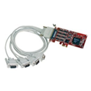 Comtrol RocketPort EXPRESS Quadcable DB9 Multiport Serial Adapter - PCI Express x1 - 4 x DB-9 Male RS-232/422/485 Serial Via Cable - Plug-in Card - DB-9 Fan-out Cable - 30126-4