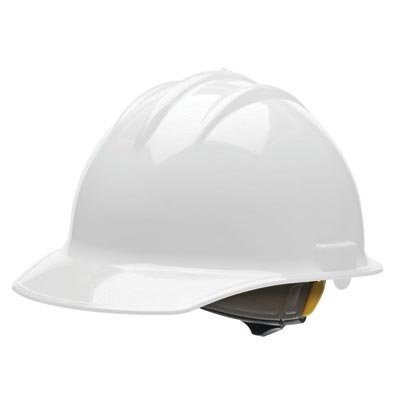 Bullard® White Class E or G Type I Classic C30 3000 Series HDPE Cap Style Hard Hat With 6-Point Ratchet Suspension, Accessory Slots, Chin Strap Attachment And Absorbent Cotton Brow Pad