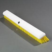 Yellow Sparta Spectrum Omni Sweep - 24 inch with Color-Coded Synthetic Bristle Plastic Block -- 12 per case by Carlisle