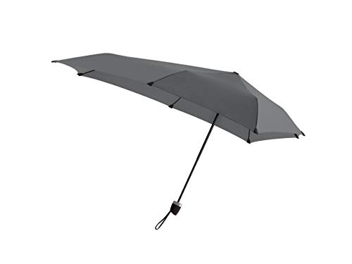 Senz Manual Compact Foldable Storm Proof Umbrella - Silk Grey ()