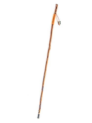 SE WS636-55OR Walking/Hiking Stick with Orange Paracord, 55""