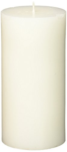 Zest Candle Pillar Candle, 3 by 6-Inch, White