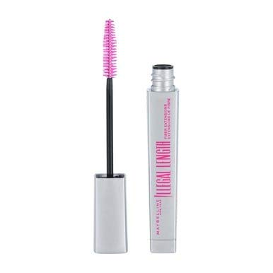 Maybelline New York Illegal Length Fiber Extensions Washable Mascara, Blackest Black [930] 0.22 oz