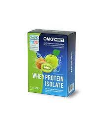 1Box OMG(โอเอ็มจี) WHEY PROTEIN ISOLATE Weight Control Apple Kiwi Flavor Whey Protein (1Box 5sachets)