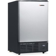 Lorell LLR73210 Stainless Steel Ice Maker/Refrigerators, 19 L by Lorell