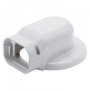 【ケース販売特価 10個セット】 ウォールコーナーエアコンキャップ用 壁面取り出し 配管化粧カバー(一般用) 大口径タイプ ホワイト 《スリムダクトLD》 LDWM-90L-W_set