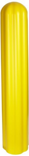 (Eagle 1738 HDPE 8 Bumper/Bollard Post Sleeve, Yellow, 10 OD, 57 Height by)