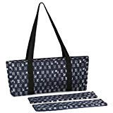 Navy Blue & Silver Designer Mah Jongg Set Soft Carrying Case (Case Only)