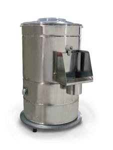 FMA Omcan Food Machinery (DB10) Electric Potato & Vegetable Peeler 440lb/hr by FMA Omcan Food Machinery