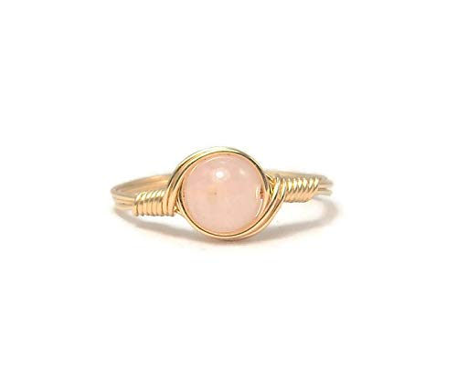 Morganite 14k Yellow Gold Fill Wire Wrapped Ring
