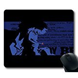 Price comparison product image Custom Hot Mouse Pad with Cowboy Bebop Spike Spiegel(1) Non-Slip Neoprene Rubber Standard Size 9 Inch(220mm) X 7 Inch(180mm) X 1 / 8 Inch(3mm) Desktop Mousepad Laptop Mousepads Comfortable Computer Mouse Mat