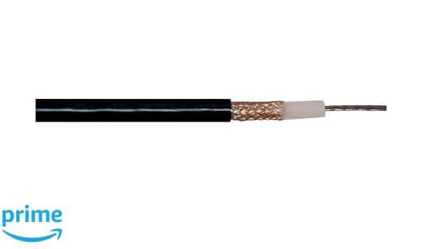 Transmedia RG213-100RL - Cable coaxial (doble apantallamiento, 50 ohmios, apantallamiento de cobre de 0,8 mm, diámetro de 10,3 mm, envoltura de PVC): ...