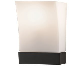 Feiss WB1482ORB Blake Glass Wall Sconce Lighting, Bronze, 1-Light (7''W x 9''H) 100watts by Feiss