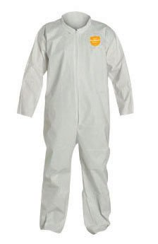 DuPont NG120SWH4X002500 4X White Safespec 2.0 10 mil ProShield NexGen Disposable Coveralls With Front Zipper Closure, Laydown Collar, Open Wrists, Open Ankles And Set Sleeves ()