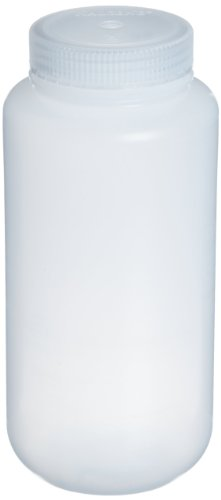 Nalgene 2103-0016 Wide-Mouth Bottle, LDPE, 500mL (Pack of 12)