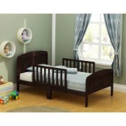 Russell Children Harrisburg XL Guardrail Wooden Toddler Bed, Expresso