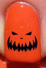Halloween Pumpkin Face - Nail Decals by YRNails