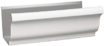 Amerimax Home Products 3200700120 K-Style Gutter, White Galvanized Steel, 5-In. x 10-Ft., Must Purchase In - Quantity 10