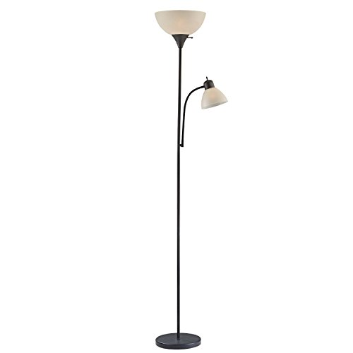 Light Accents 150 Watt Floor Lamp with Side Reading Light - Floor Lamps - Dorm Room Floor Lamp - Floor Lamps for Bedrooms - Kids Floor Lamp - College Floor Lamp (Black (Case of 4)) by Lightaccents (Image #2)