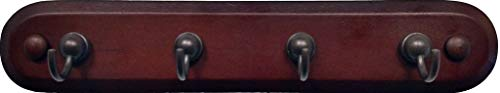 Spectrum 4 Hook Key Rack - Walnut Wood/Bronze